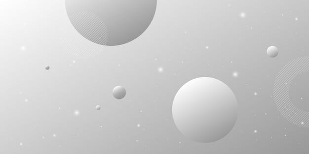 デジタル技術をテーマにした灰色の白いグラデーション要素を持つモダンな抽象的な背景。