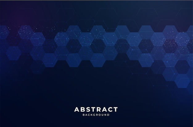 Modern abstract background with hexagonal design
