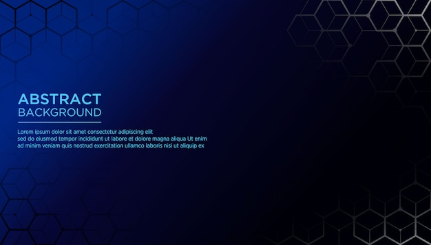 Modern abstract background with hexagonal shape