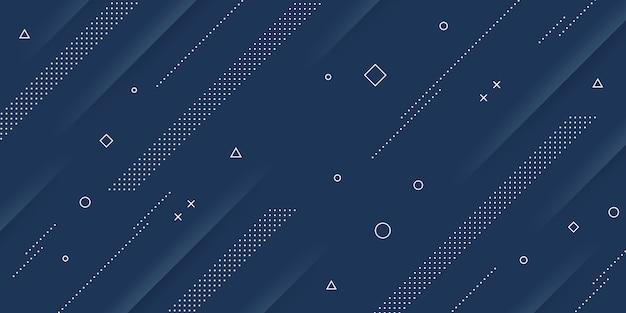 Современная абстрактная предпосылка с элементами мемфиса и papercut и голубыми пастельными цветами ретро-тематики для плакатов, знамен и посадочных страниц вебсайта.