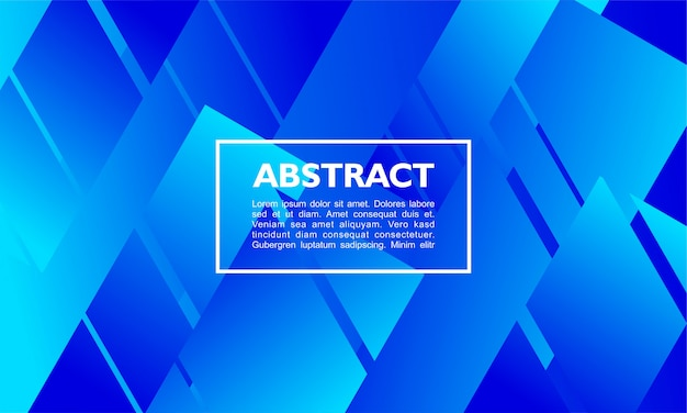 Modern abstract background with overlapping rectangle shape on blue colors