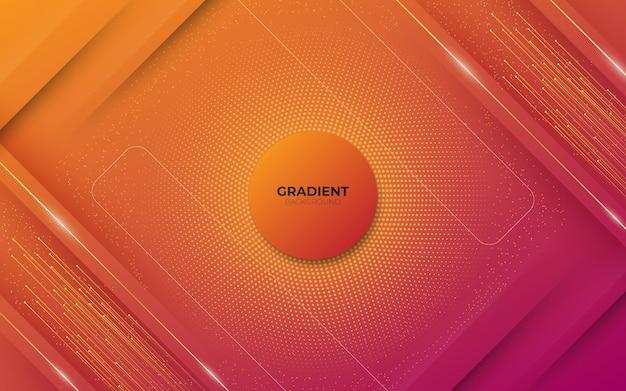 正方形とハーフトーンの要素とデジタル技術をテーマにした色のパステル赤のグラデーションでモダンな抽象的な背景。
