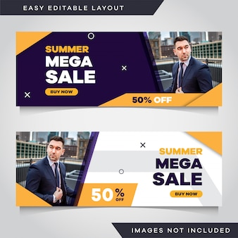 Modern abstract banner pack template