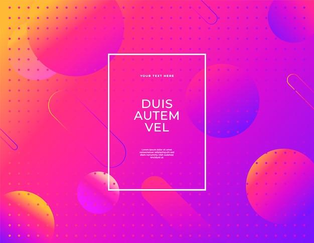 Современный абстрактный баннер набор жидких капель формы ультрафиолетового цвета фона.