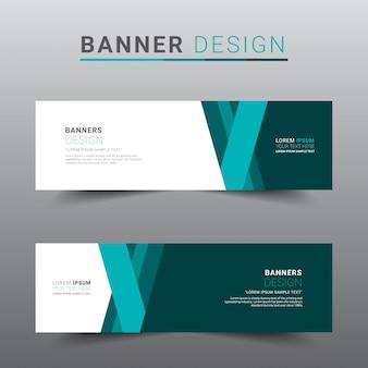 Modern abstract banner template.