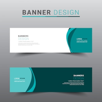 Modern abstract banner template.