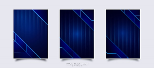 Modern abstract banner vector design template