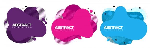 Modern abstract banner. wave fluid liquid shape