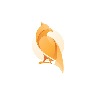 Modern abstract bird logo