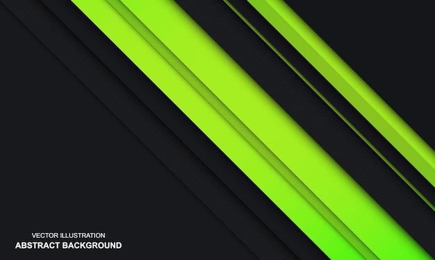 モダンな抽象的な黒と緑の豪華な背景