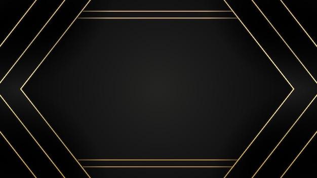 골든 스타일 구성으로 현대 추상 검정색 배경