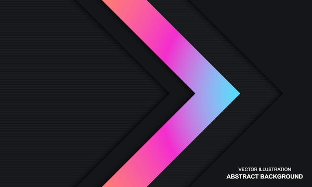 현대 추상 블랙 블루와 핑크 컬러 배경