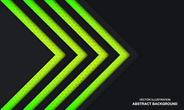 현대 추상 검은 녹색과 노란색 색 배경