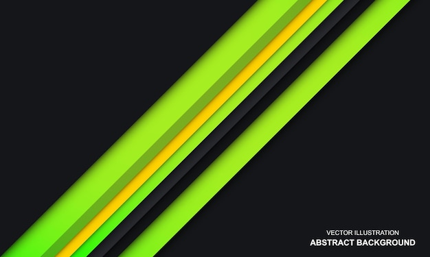 Modern abstract black green and yellow color background