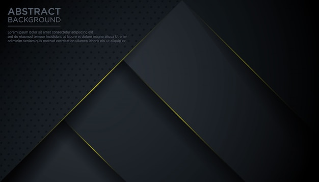 Modern abstract black triangle background