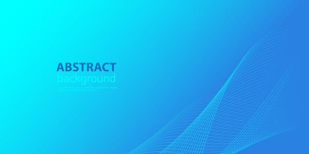 現代の抽象的な青い背景と重なり