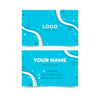 Modern abstract blue business card template