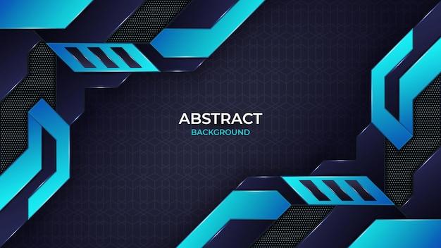 モダンな抽象的な青いゲームの背景デザインテンプレート
