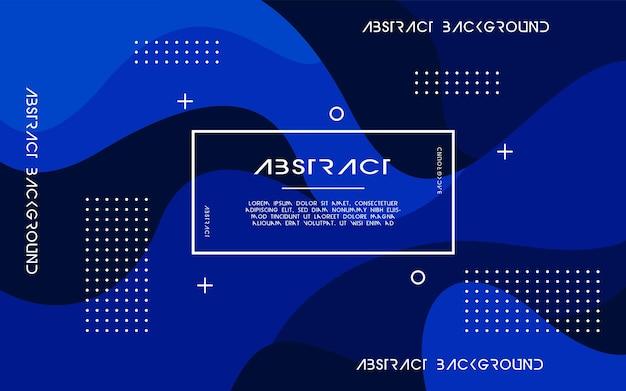 Современный абстрактный синий жидкий фон. динамический текстурированный дизайн геометрических элементов. может использоваться на плакатах, баннерах, в интернете и т. д.