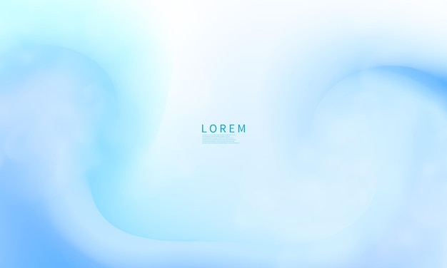 Modern abstract blue shapes postcard or brochure cover design with a pastel color palette and a gradient background