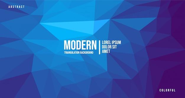 Modern abstract blue triangulation background