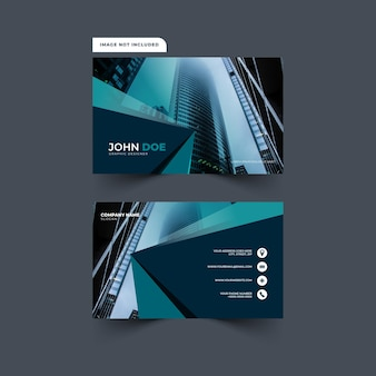 Modern and abstract business card design