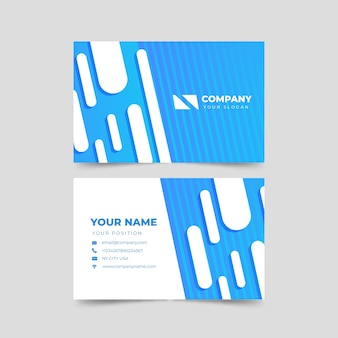 Modern abstract business card template