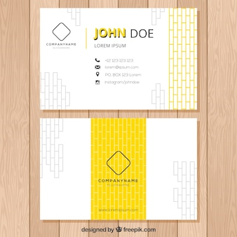 Modern and abstract business card