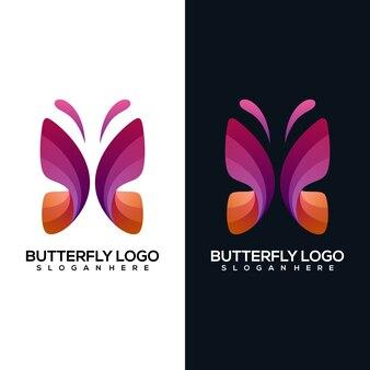 Современная абстрактная бабочка с двумя версиями