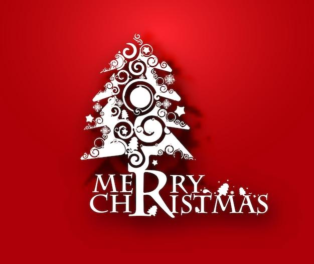 현대 추상 크리스마스 트리 배경, 벡터 일러스트 레이 션입니다.