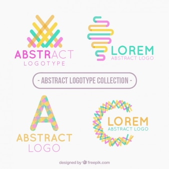 Modern abstract colored logotypes