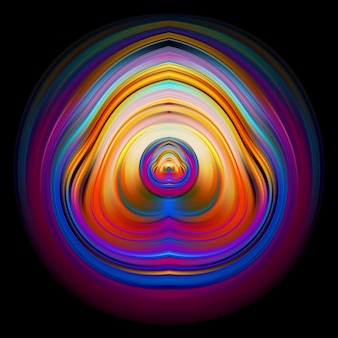 Modern abstract colorful circle art design with wave liquid shape background