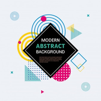 Modern abstract colorful geometric pattern
