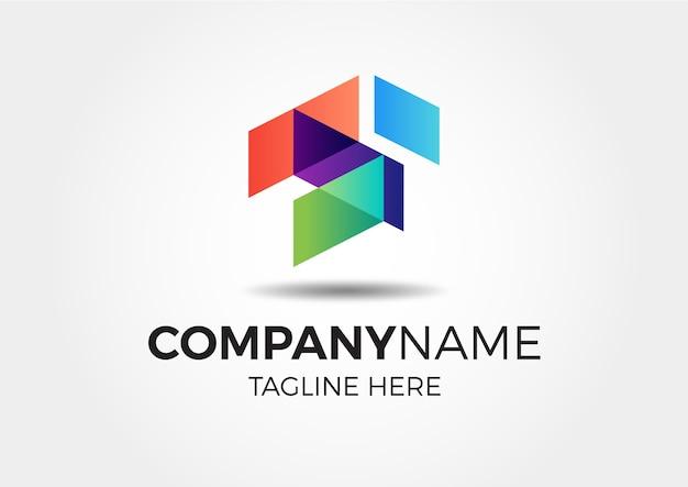 Современный абстрактный красочный градиентный логотип