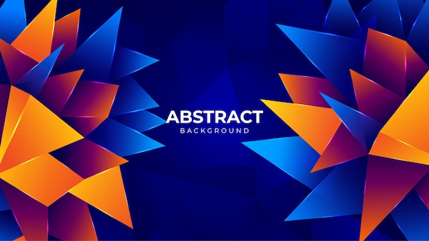 Modern abstract colorful polygon background