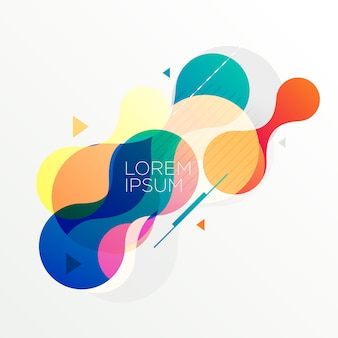 Modern abstract colorful shapes background