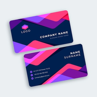 Modern abstract colourful business card template