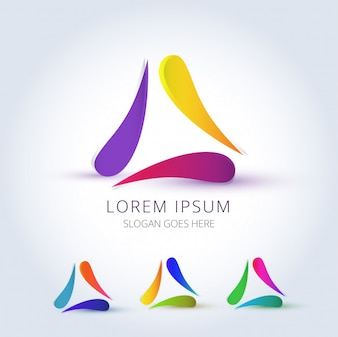 Modern abstract colourful logo