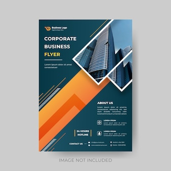 Modern abstract corporate business flyer design