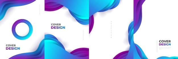 Современный абстрактный шаблон оформления обложки с красочными жидкими и жидкими формами. жидкий дизайн фона для титульной страницы, темы, брошюры, баннера, обложки, буклета, печати, флаера, книги, открытки или рекламы