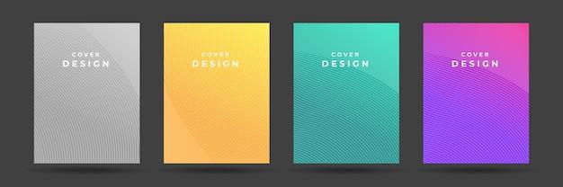 Набор современных абстрактных обложек. шаблон градиента обложки красочный плакат.