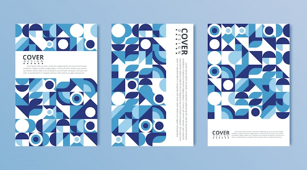 Modern abstract covers set, minimal covers design. colorful geometric background