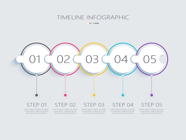 Modern abstract d infographic template with steps for success