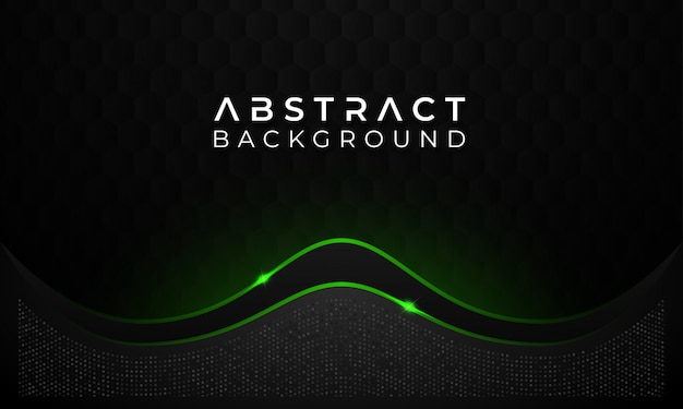 Modern abstract dark background with green glowing line