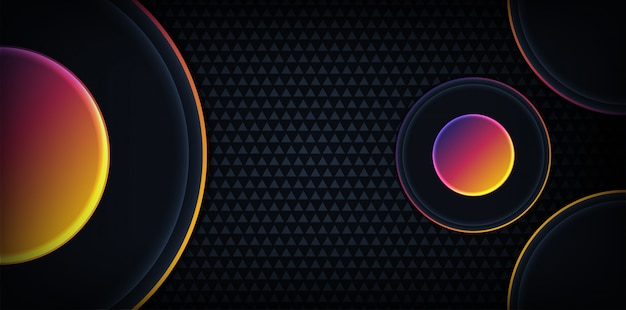 Modern abstract dark background with rainbow colorful line