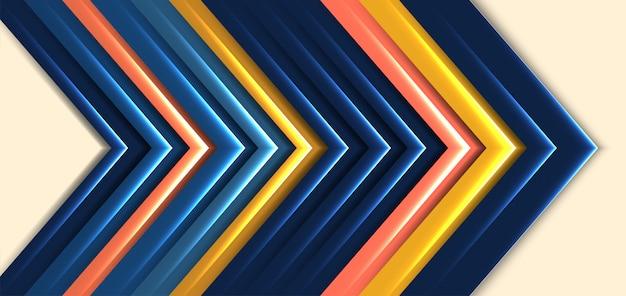 현대 추상 어두운 파란색 화살표 방향 배경 프리미엄 벡터