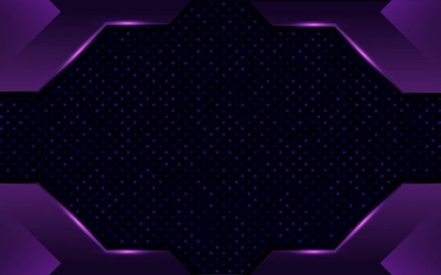 Современный абстрактный темно-фиолетовый фон дизайн с точками и линиями