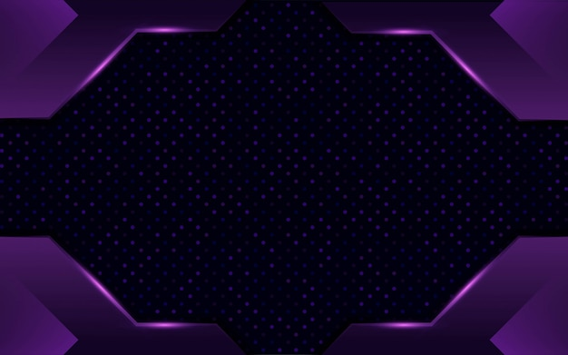 Modern abstract dark purple twitch background design with dots and lines