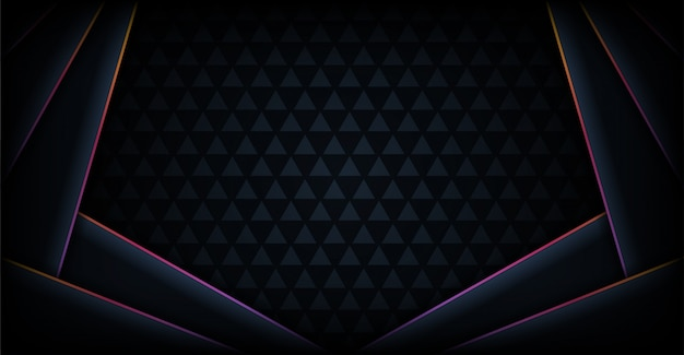 Modern abstract dark tech with rainbow colorful line background