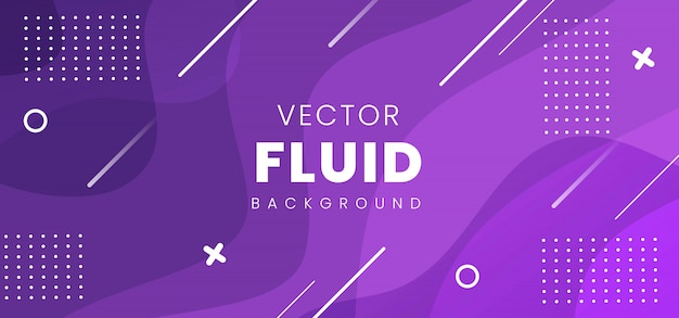 Modern abstract fluid banner